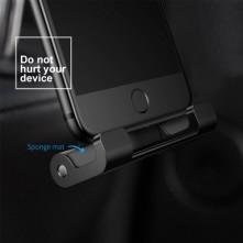 BASEUS univerzális 360 fokban forgatható autó fejtámlára szerelhetõ táblagép tartó 4.7-12.9 inches készülékekhez - FEKETE