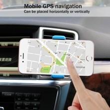 HAWEEL autó szellõzõrácsra rögzíthetõ telefon autós tartó - KÉK