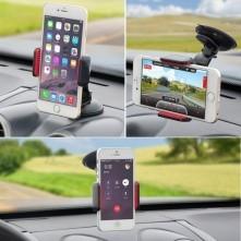 Univerzális 360 fokban forgatható szélvédõre rögzíthetõ telefon tartó 55-85 mm széles készülékekhez