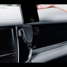 BASEUS Gravity autó szellõzõrácsra helyezhetõ univerzális telefon tartó - EZÜST