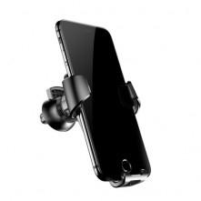 BASEUS Gravity autó szellõzõrácsra helyezhetõ univerzális telefon tartó - FEKETE