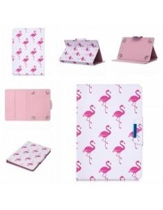 Univerzális 7 colos mintás tablet tok - Flamingó