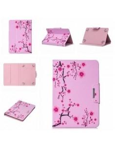 Univerzális 7 colos mintás tablet tok - Tavaszi virág