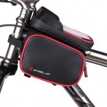 WHEEL UP kerékpár vázra rögzíthetõ 3 rekeszes tok 18x10 cm - PIROS-FEKETE