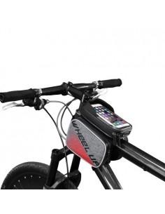 WHEEL UP kerékpár vázra rögzíthetõ 3 rekeszes tok 19x15 cm - FEKETE