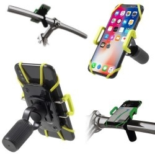 IDMIX DM05 kormányra rögzíthetõ univerzális telefontartó 4-10 cm széles készülékekhez - FEKETE