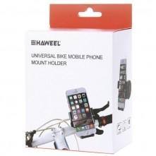 7613b7200eee HAWEEL kerékpár kormányra rögzíthetõ telefontartó 49-75 mm széles  készülékekhez - FEKETE