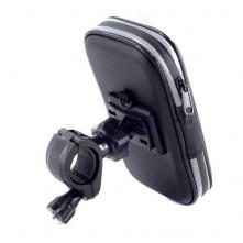 Kerékpár kormányra rögzíthetõ tok 7.5x15.2 cm - FEKETE