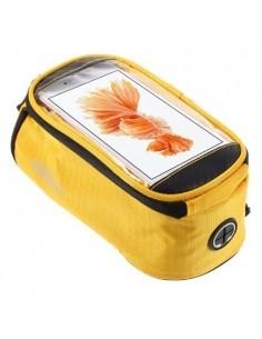 Kerékpárra rögzíthetõ telefontok 8.5x16 cm-es telefonokhoz - SÁRGA