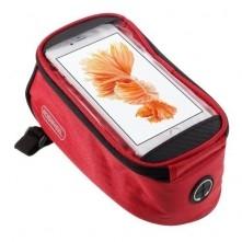 Kerékpárra rögzíthetõ telefontok 8.5x16 cm-es telefonokhoz - PIROS