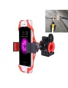 360 fokban forgatható kerékpáros telefon tartó iPhone 7 / 7 Plus / iPhone 6 / 6 Plus / iPhone 5 / 5C & 5s - PIROS