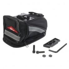 OQSports kerékpár nyereghez rögzíthetõ fekete táska