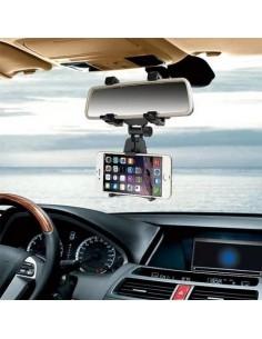 Univerzális visszapillantóra rögzíthetõ telefon tartó 5-9 cm széles készülékekhez - FEKETE