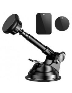 Univerzális tapadókorongos teleszkópos mûszerfalra vagy szélvédõre rögzíthetõ mágneses autós tartó - FEKETE