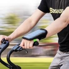 BASEUS kézfejre csatolható tok futáshoz - 4.7 colos - FEKETE/ZÖLD