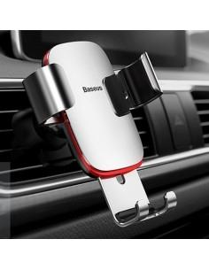 BASEUS Metal Age Gravity autó szellõzõrácsra rögzíthetõ univerzális telefon tartó - EZÜST