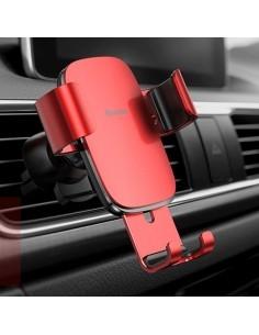 BASEUS Metal Age Gravity autó szellõzõrácsra rögzíthetõ univerzális telefon tartó - PIROS