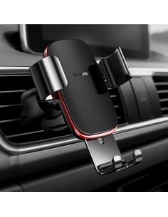 BASEUS Metal Age Gravity autó szellõzõrácsra rögzíthetõ univerzális telefon tartó - FEKETE