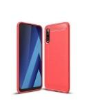Samsung Galaxy A50 ütésálló, karbon mintás, szilikon tok, piros