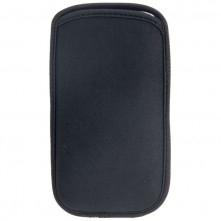 Univerzális fekete színű szövet telefontok - 8,5 x16 cm