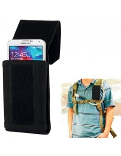 Univerzális fekete mobiltelefon tok maximum 6.3 inches készülékekhez