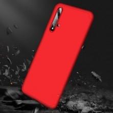 GKK három részes kemény tok Huawei Nova 5T készülékhez - piros