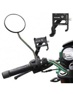 GUB PLUS 6 motor vagy kerékpár kormányra rögzíthetõ aluminium telefon állvány 55-100 mm széles készülékekhez - FEKETE