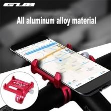 GUB G-86 univerzális kormányra rögzíthetõ masszív aluminium telefontartó 50-100 mm széles készülékekhez - PIROS