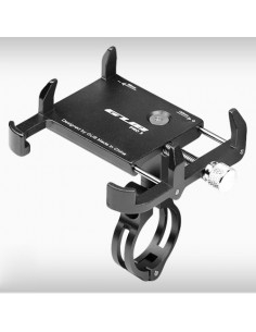 GUB PRO3 univerzális kormányra rögzíthetõ masszív aluminium telefontartó 55-100 mm széles készülékekhez - FEKETE