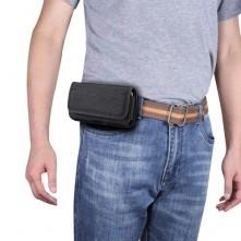 Univerzális 6.9-7.2 inches övre fûzhetõ mobiltelefon tartó fém csipesszel - FEKETE