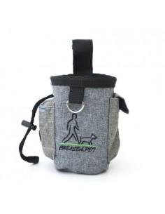 QS-001 kutyasétáltató táska vízhatlan anyagból - Derékra csatolható - VILÁGOSSZÜRKE