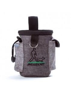 QS-001 kutyasétáltató táska vízhatlan anyagból - Derékra csatolható - SÖTÉTSZÜRKE