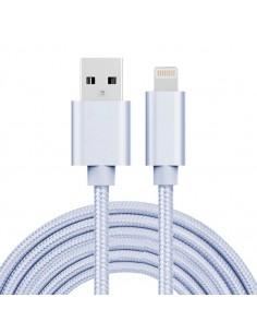 3 méteres USB kábel iPhone X/8/8 Plus/7/7 Plus/6/6s/6 Plus/6s Plus/iPad/5/5s/SE - EZÜST